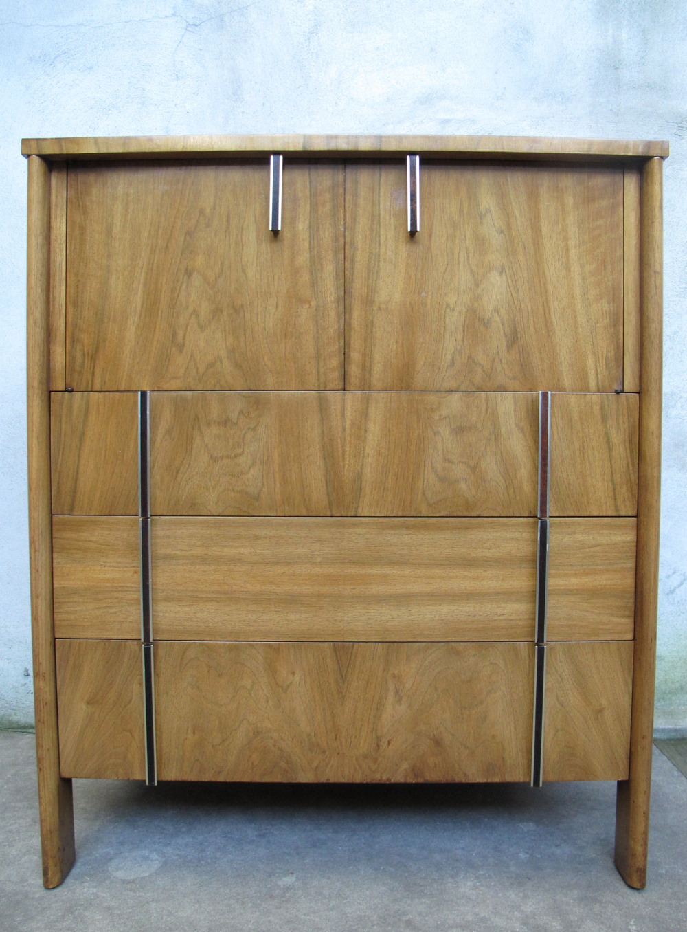 MID CENTURY WIDDICOMB WALNUT TALL DRESSER BY DALE FORD