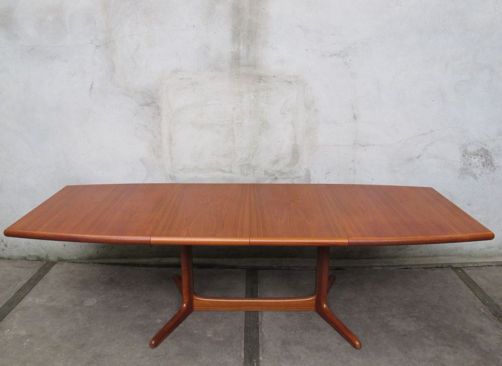 DANISH MODERN TEAK DINING TABLE BY SKOVBY