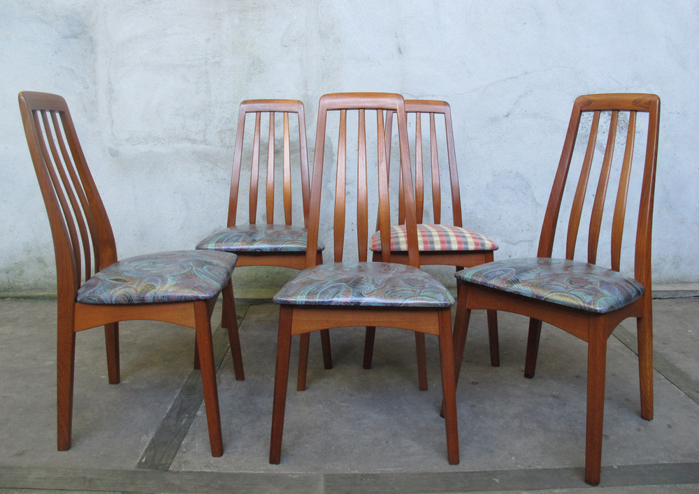 SET OF DANISH MODERN TEAK DINING CHAIRS AFTER NIELS KOEFOED