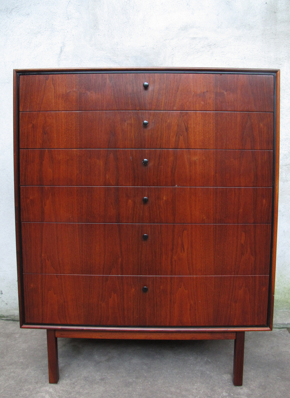MID CENTURY MILO BAUGHMAN TALL DRESSER FOR ARCH GORDON