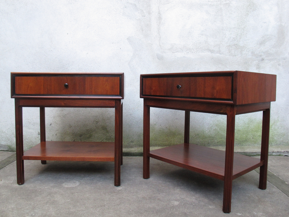 MID CENTURY MILO BAUGHMAN NIGHTSTANDS FOR ARCH GORDON
