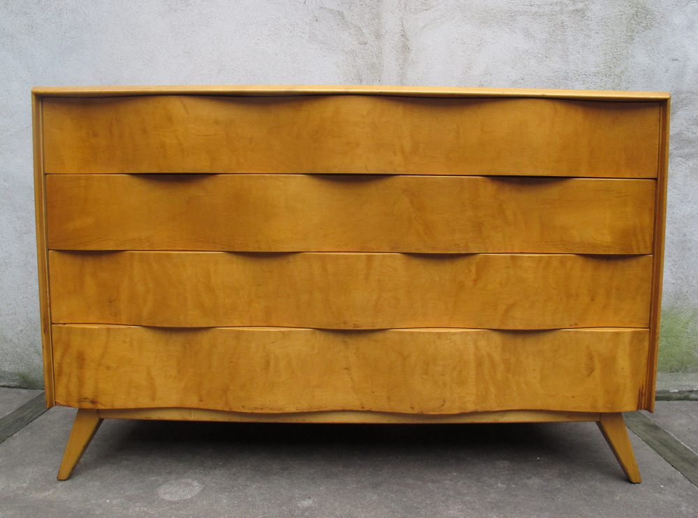 "SWEDISH MODERN ""WAVE"" DRESSER BY EDMUND SPENCE"