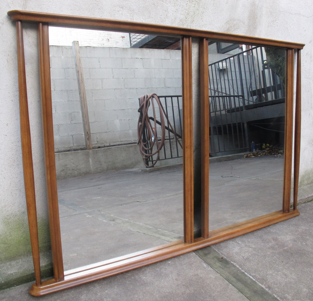 DANISH STYLE WALNUT DOUBLE MIRROR
