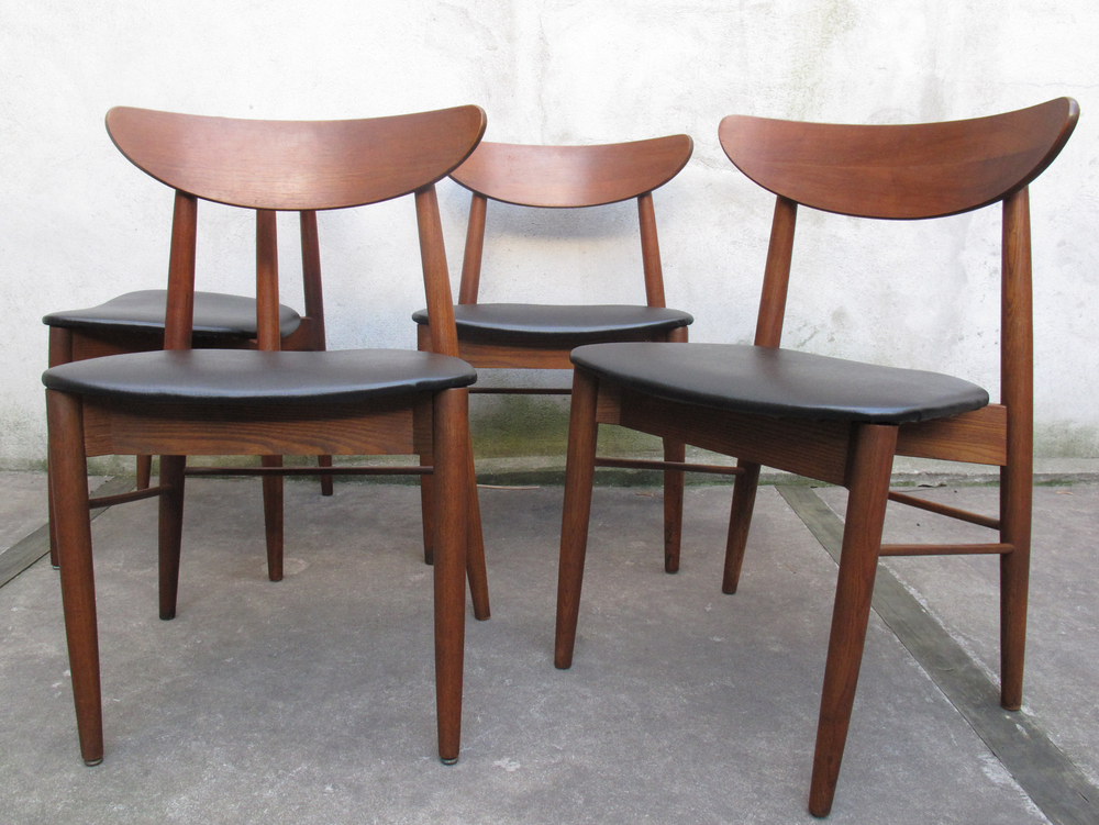 DANISH MODERN STYLE DINING CHAIRS AFTER HANS WEGNER