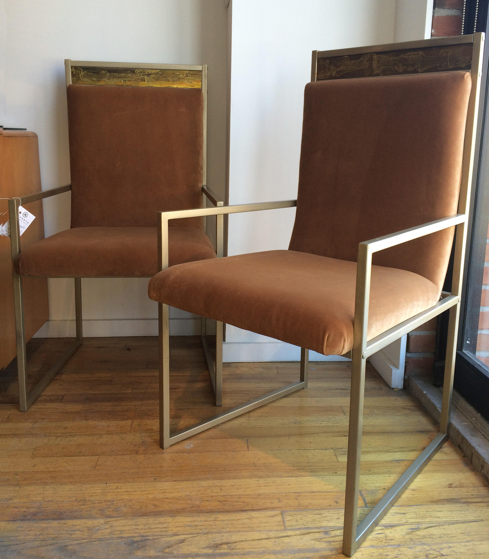 SET OF MASTERCRAFT DINING CHAIRS BY BERNARD ROHNE