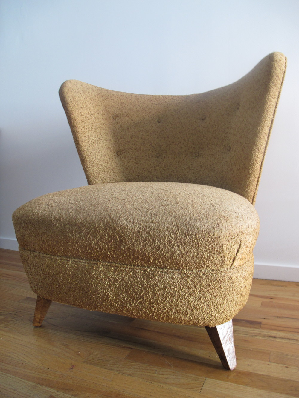 MID CENTURY SLIPPER LOUNGE CHAIR AFTER KAGAN & ROHDE