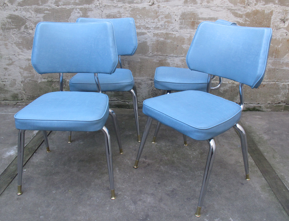 SET OF VINTAGE 1950S KITCHEN CHAIRS BY KUEHNE