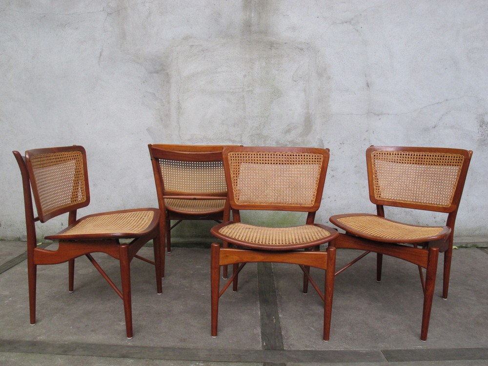 "SET OF DANISH ""FJ51"" DINING CHAIRS BY FINN JUHL"