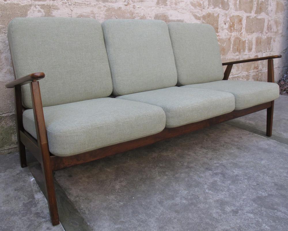DANISH MODERN 1950S THREE-SEAT SOFA