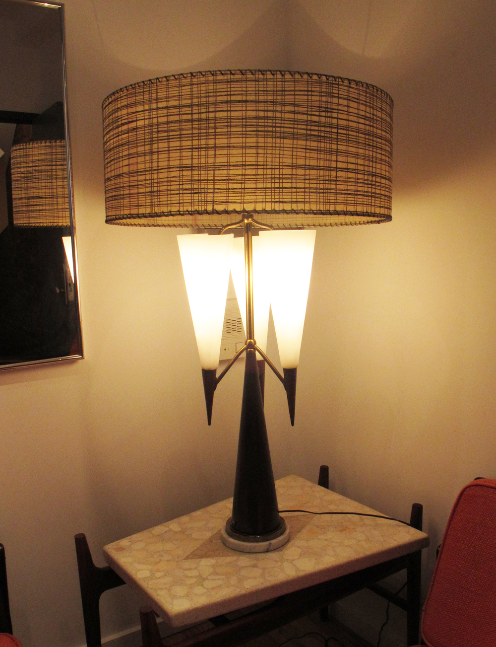GRAND MID CENTURY PONTI STYLE TABLE LAMP