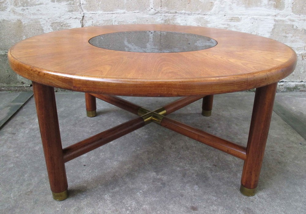 MID CENTURY ROUND X-BASE COFFEE TABLE BY G-PLAN