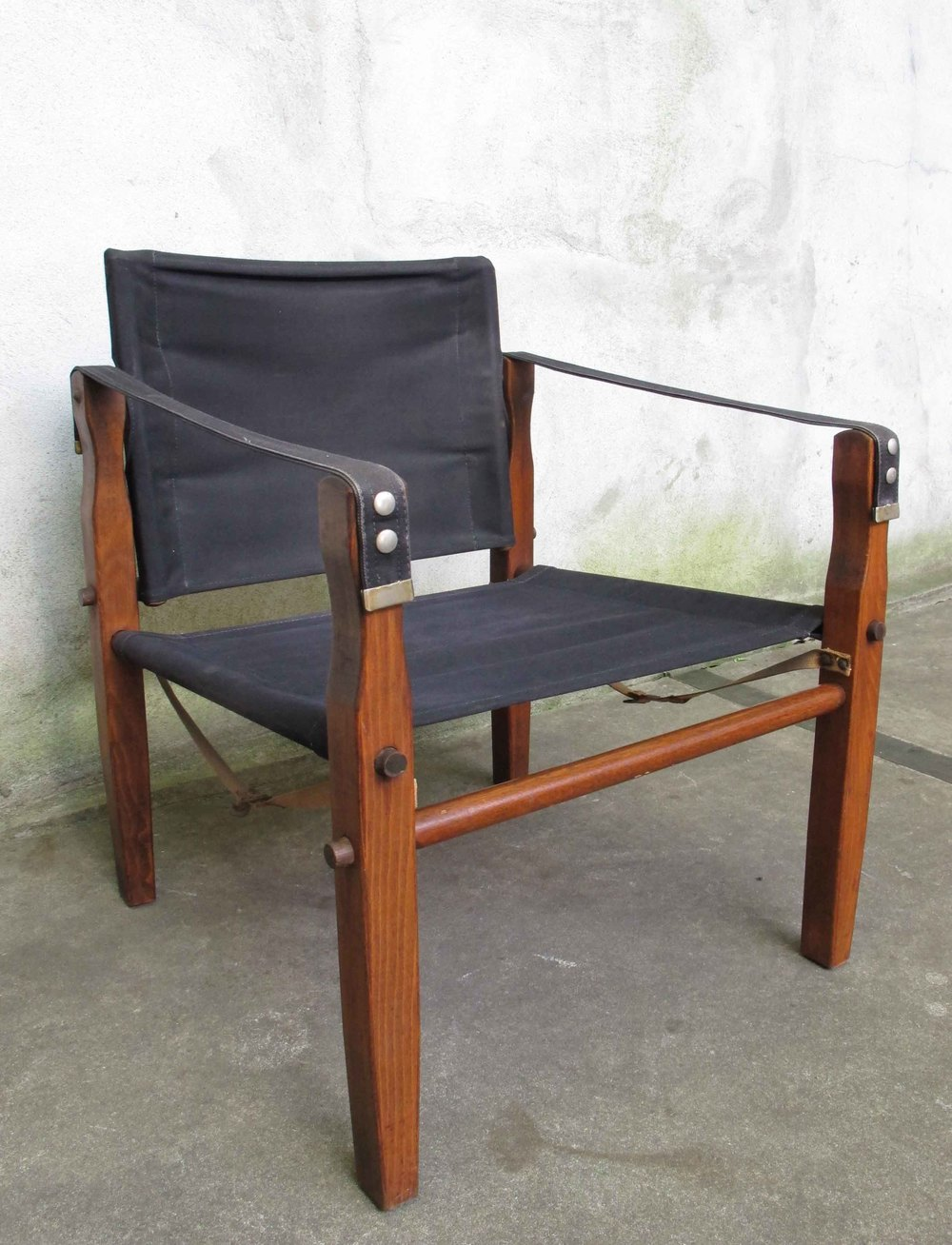 MID CENTURY FOLDING CAMPAIGN ARMCHAIR AFTER ARNE NORELL