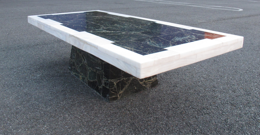 FRENCH ART DECO MARBLE COFFEE TABLE ATTRIBUTED TO MUELLER
