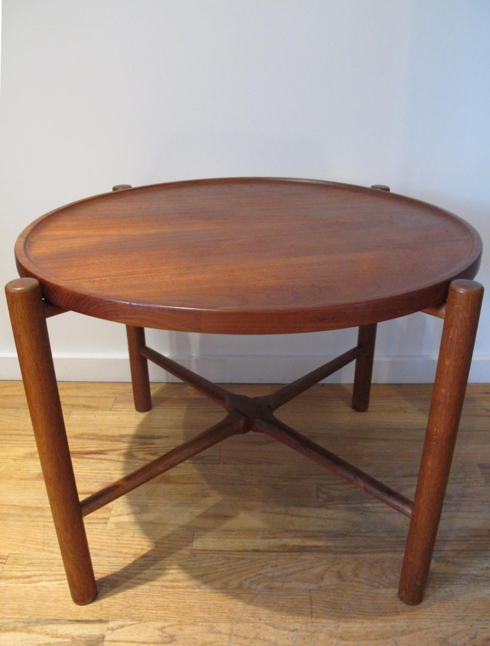 DANISH HANS WEGNER FOR ANDREAS TUCK FOLDING TEAK TRAY TABLE