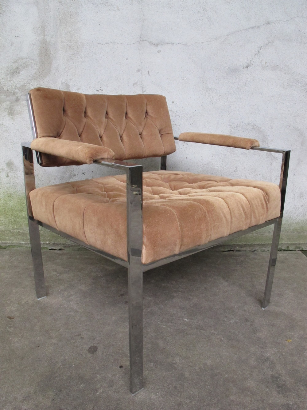 MID CENTURY FLAT BAR LOUNGE CHAIR BY HARVEY PROBBER