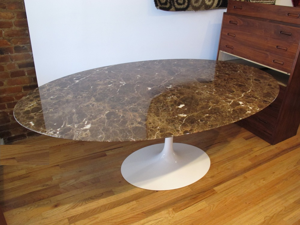 "KNOLL EERO SAARINEN MARBLE 78"" TULIP DINING TABLE"
