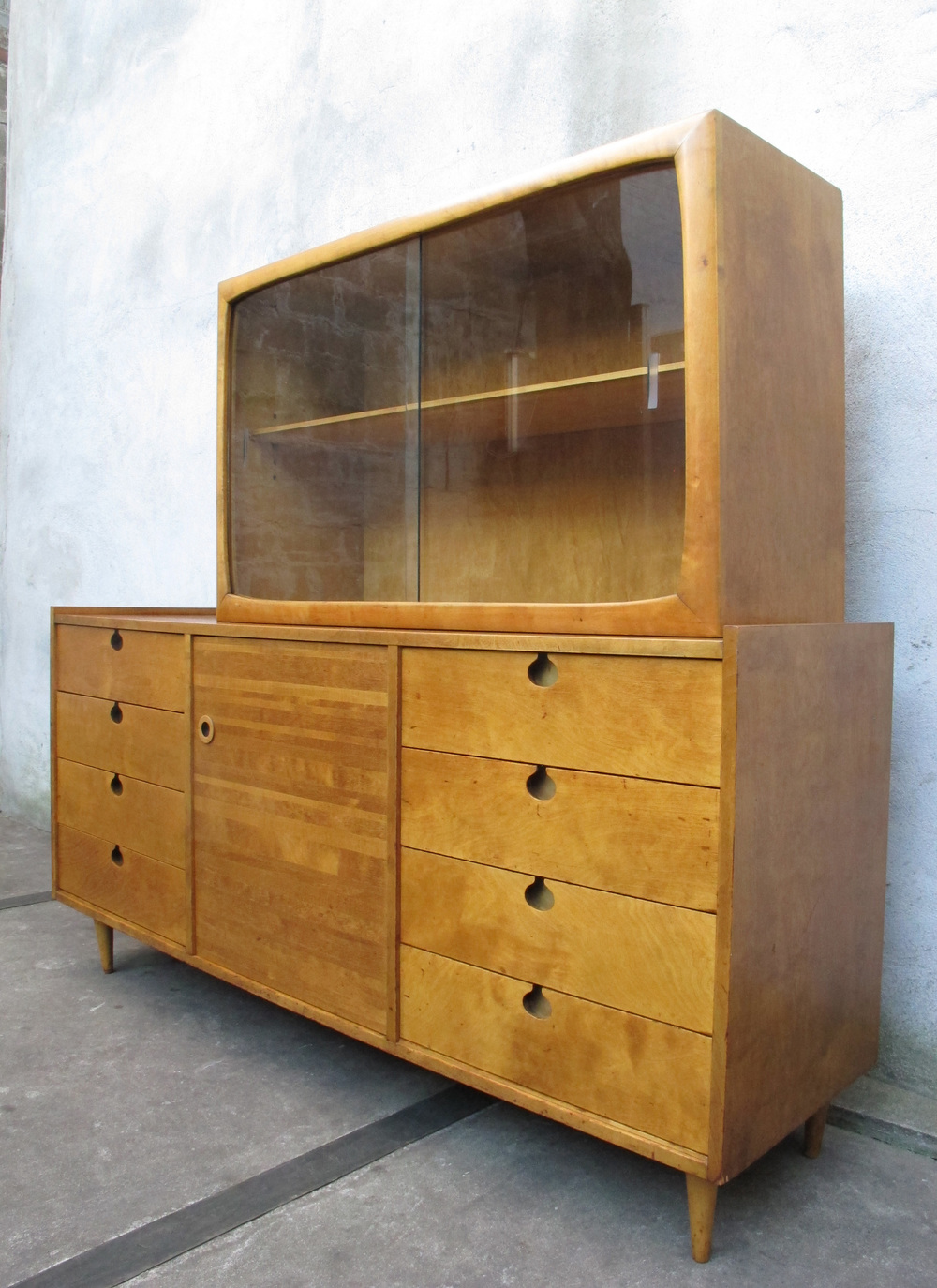 SWEDISH MODERN CREDENZA WITH CABINET BY EDMOND SPENCE