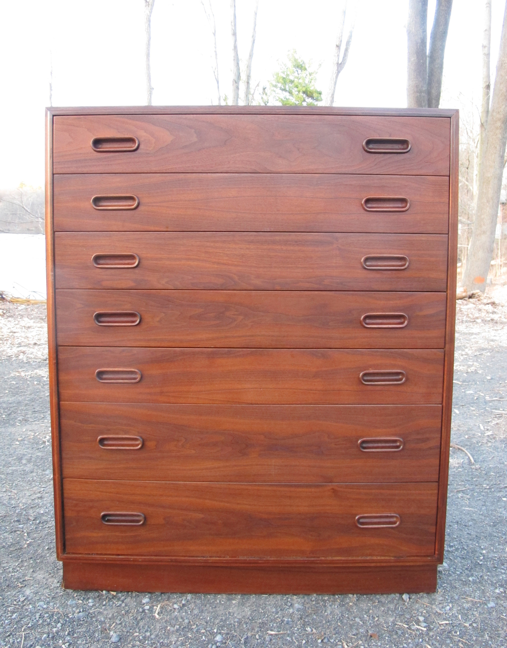 DANISH MODERN 7-DRAWER TEAK TALL DRESSER