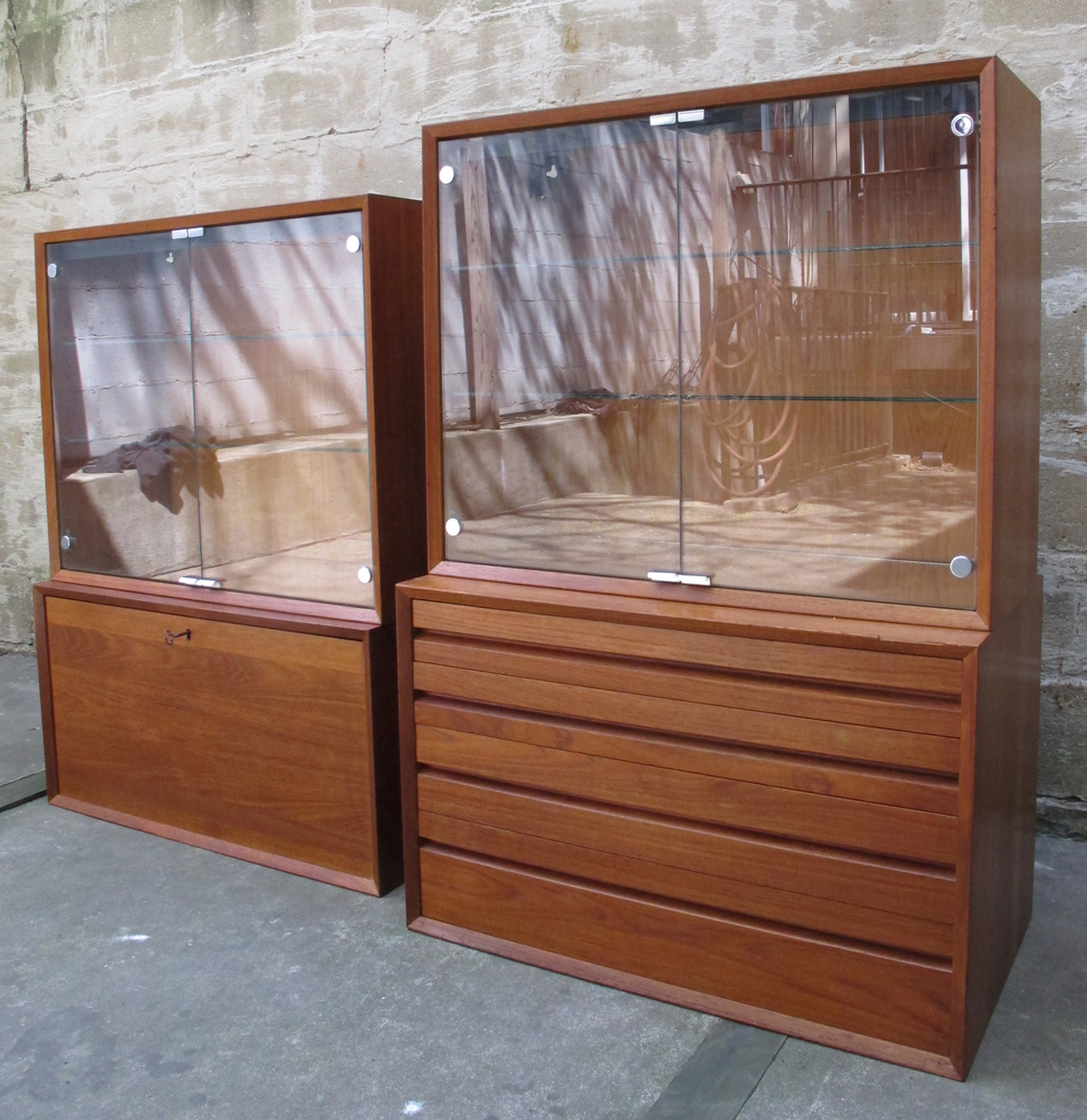DANISH MODERN CADO SYSTEM TEAK WALL UNIT CABINETS BY POUL CADOVIUS
