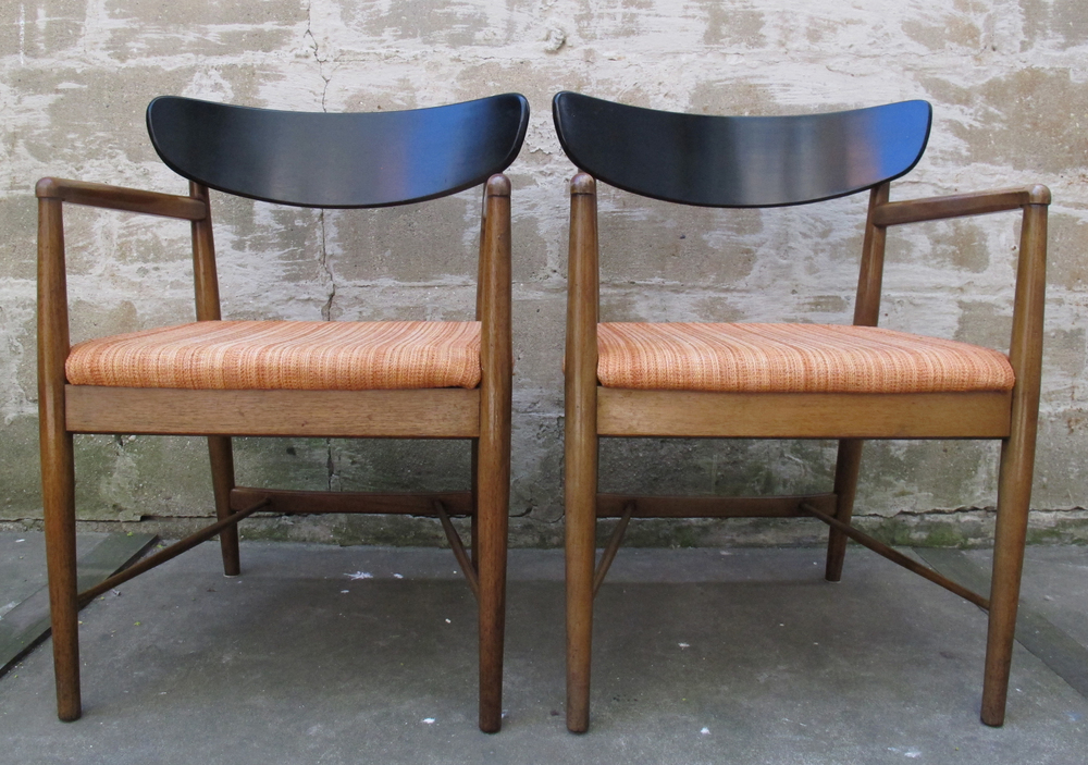 PAIR OF AMERICAN OF MARTINSVILLE MID CENTURY ARMCHAIRS
