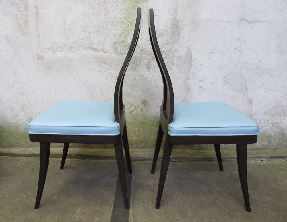 PAIR OF MID CENTURY CHAIRS BY HARVEY PROBBER