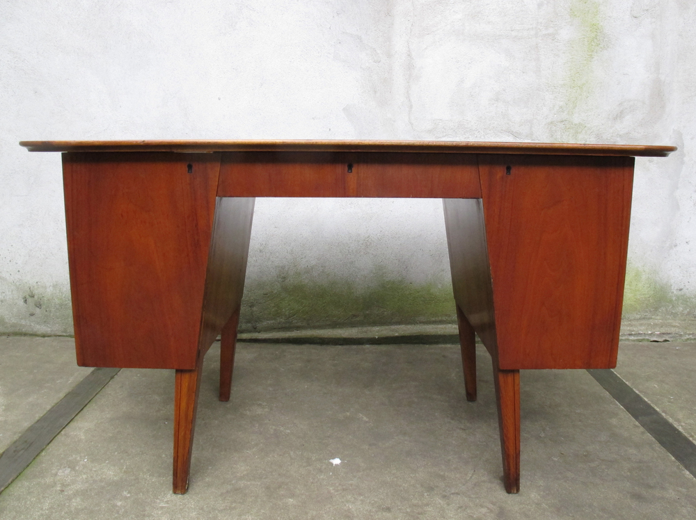 SWEDISH MODERN EDMOND SPENCE WALNUT & BIRCH DESK