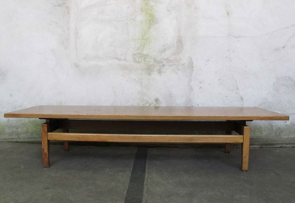 MID CENTURY FLOATING TOP WALNUT COFFEE TABLE BY JENS RISOM