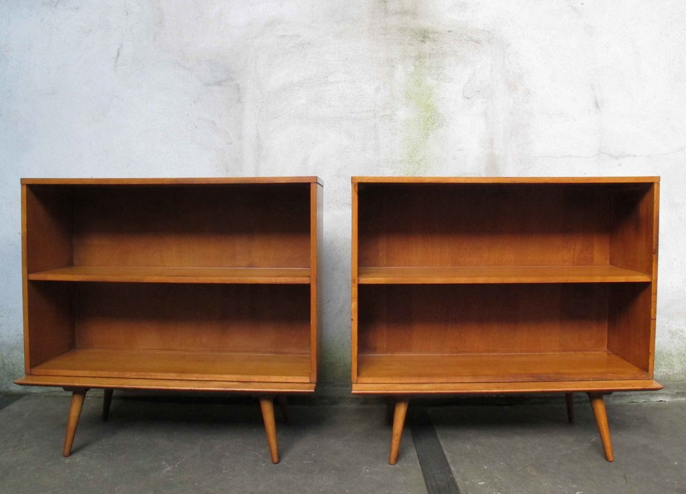 PAIR OF TWO-PIECE PAUL MCCOBB PLANNER GROUP BOOKCASES