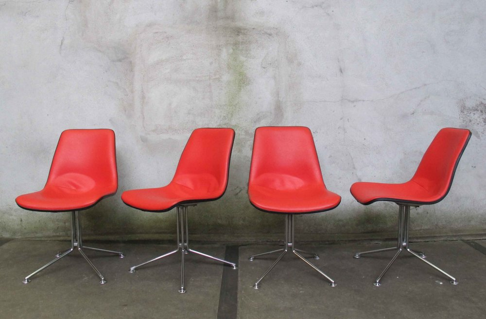 SET OF FOUR EAMES STYLE MID CENTURY SIDE CHAIRS BY BF STURGIS