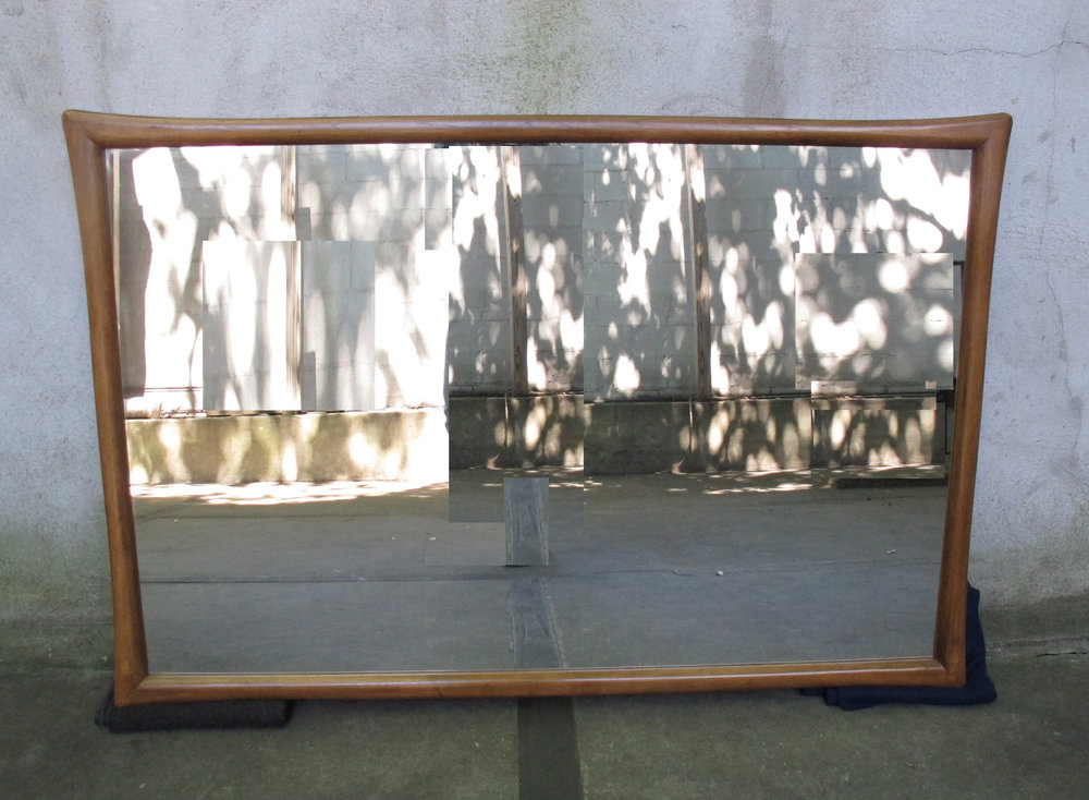 MID CENTURY MODERN LARGE WALNUT MIRROR AFTER WIDDICOMB