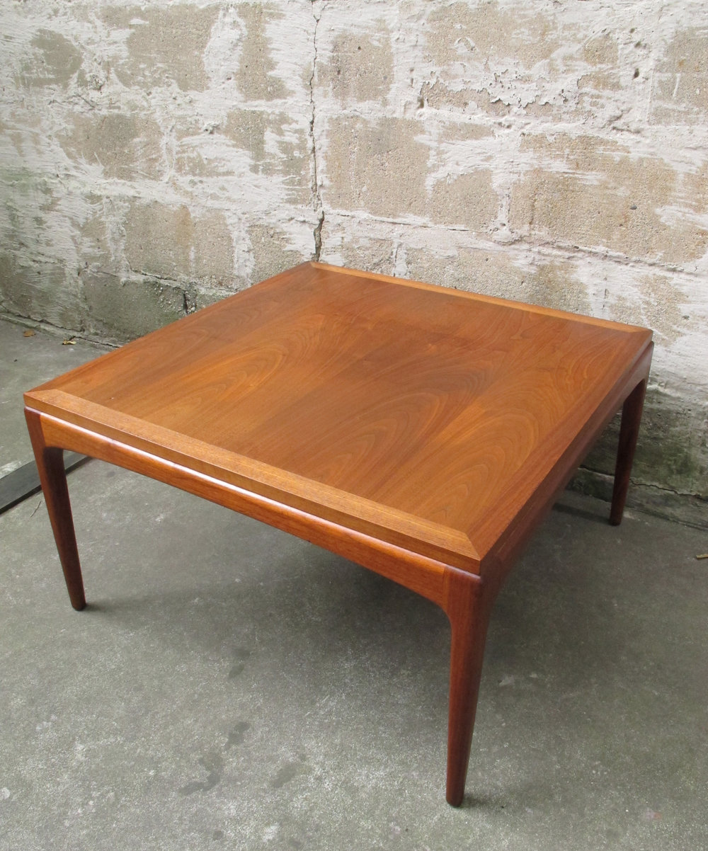 DANISH MODERN SQUARE WALNUT SIDE TABLE