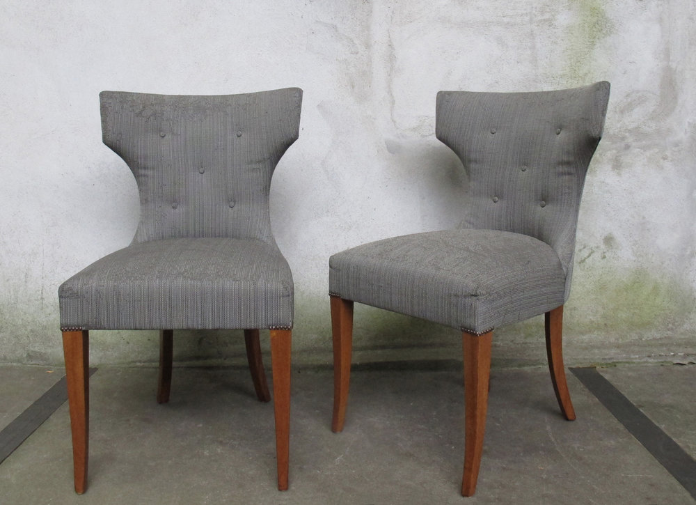 PAIR OF KERRY JOYCE LUXFORD CHAIRS FOR DESSIN FOURNIR