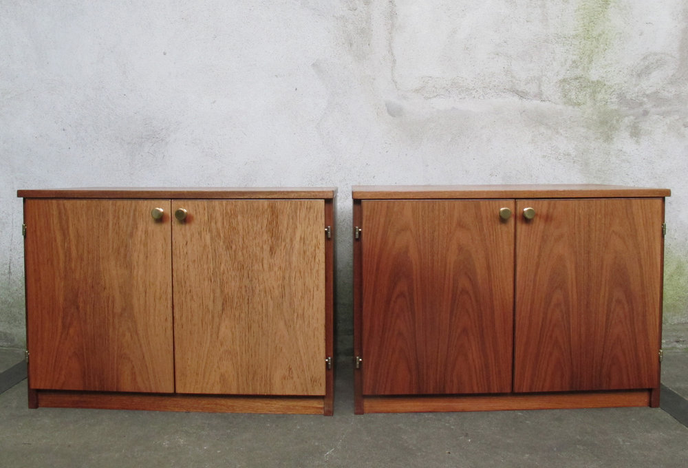 PAIR OF MID CENTURY MODERN CABINETS