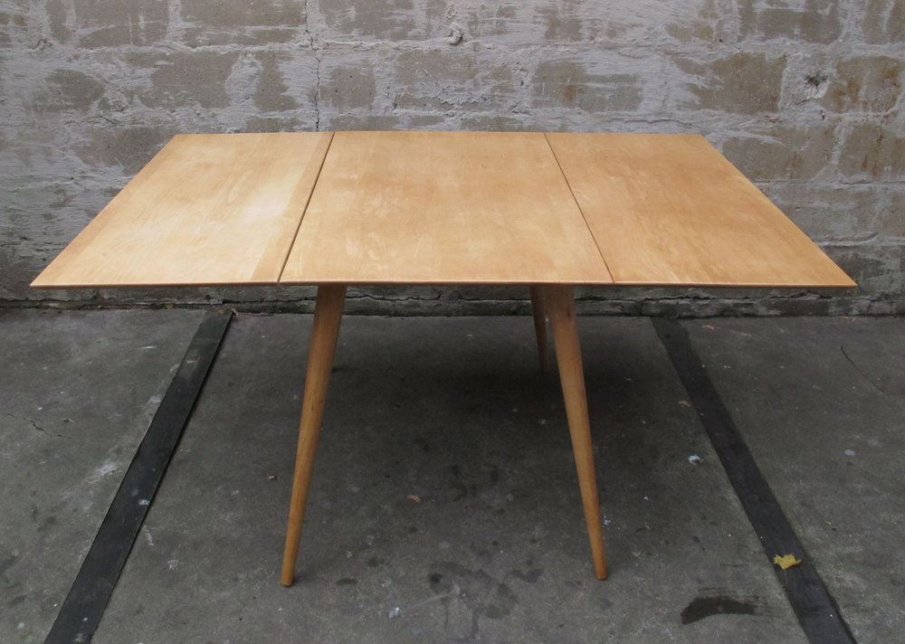 MID CENTURY PAUL MCCOBB PLANNER GROUP DROP LEAF MAPLE DINING TABLE