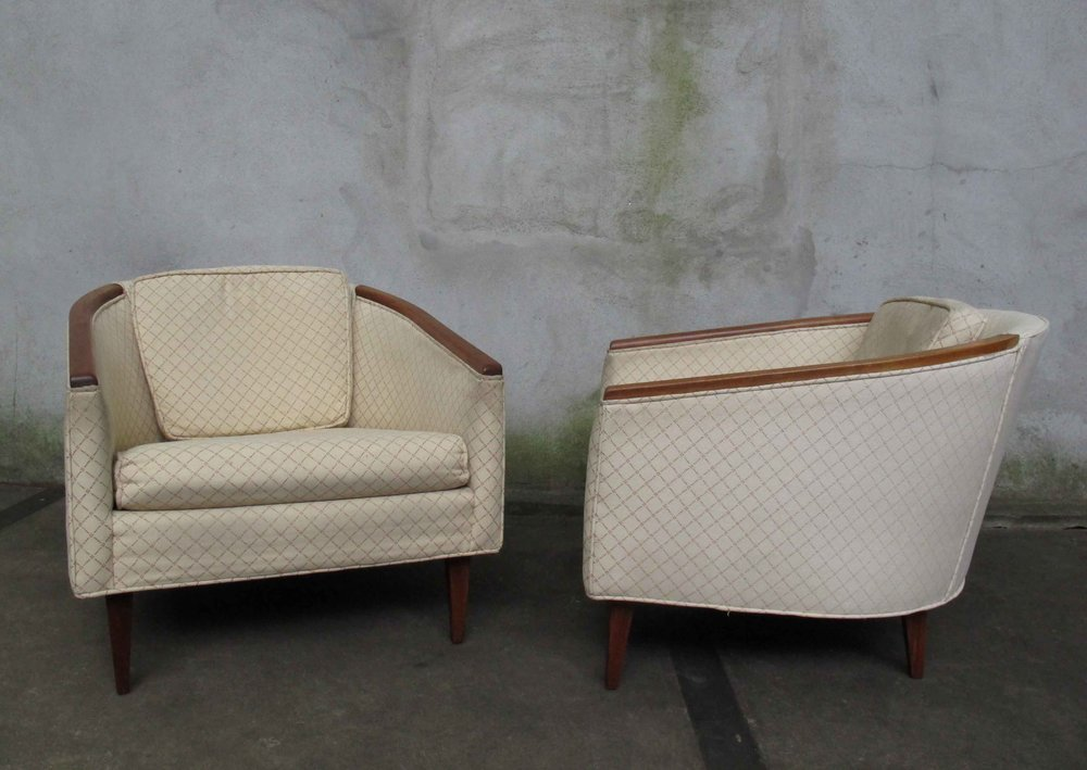 PAIR MID CENTURY MODERN TUB CHAIRS