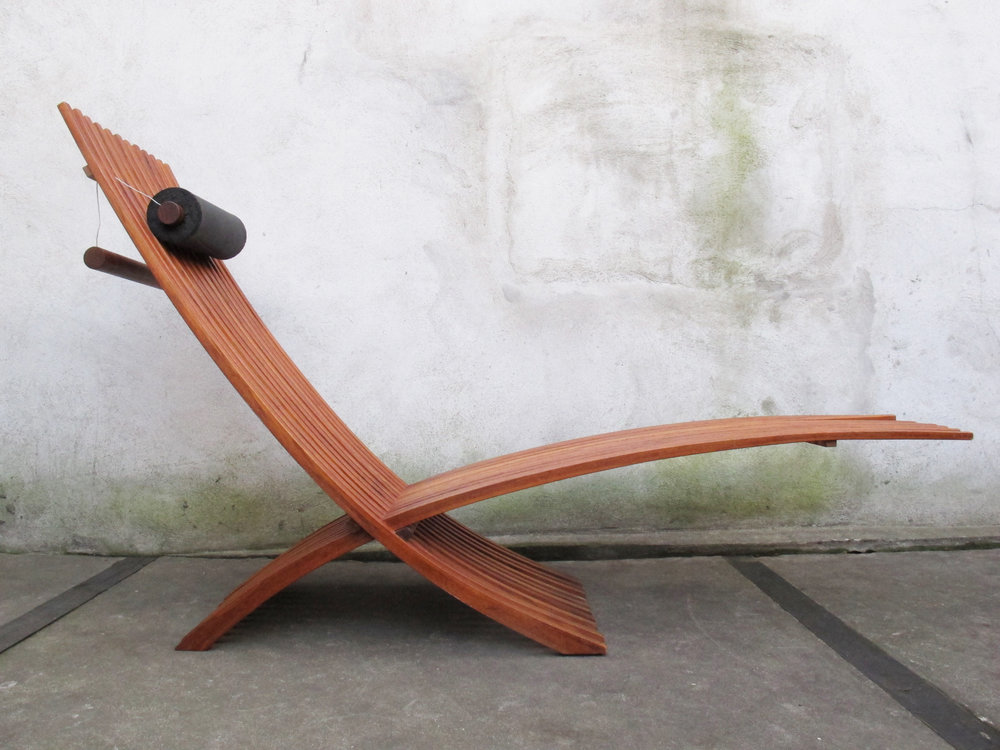DANISH MODERN NOZIB TEAK LOUNGER BY NILS-OLE ZIB FOR SKARGAARDEN