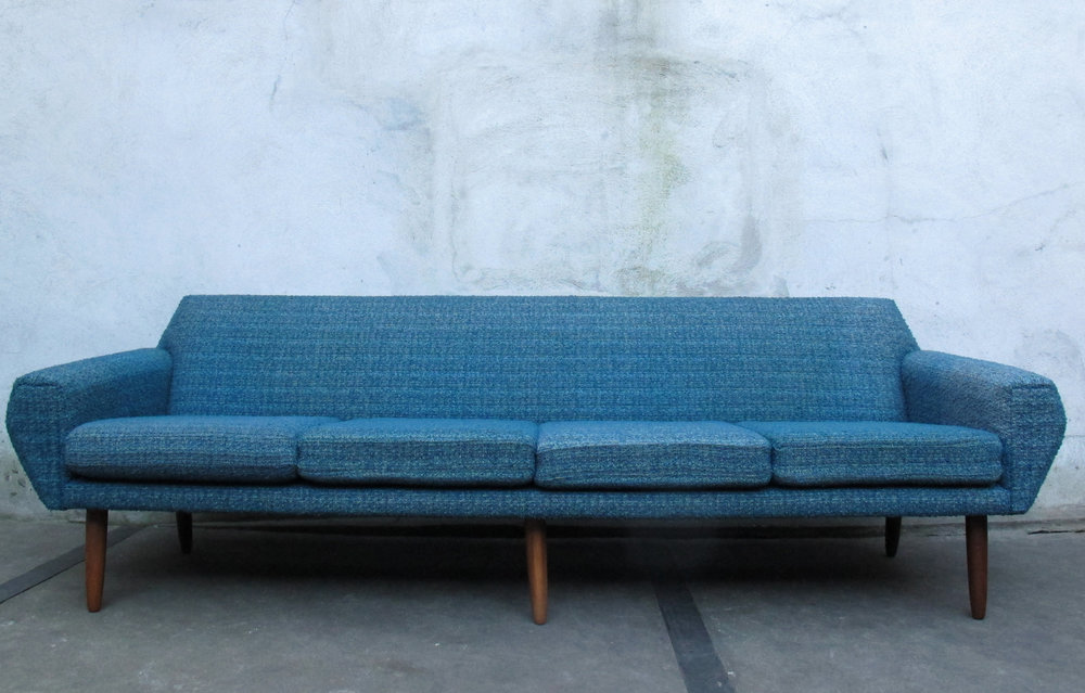 DANISH MODERN TEAK SOFA BY AAGE CHRISTIANSEN FOR ERHARD & ANDERSEN (ERAN)