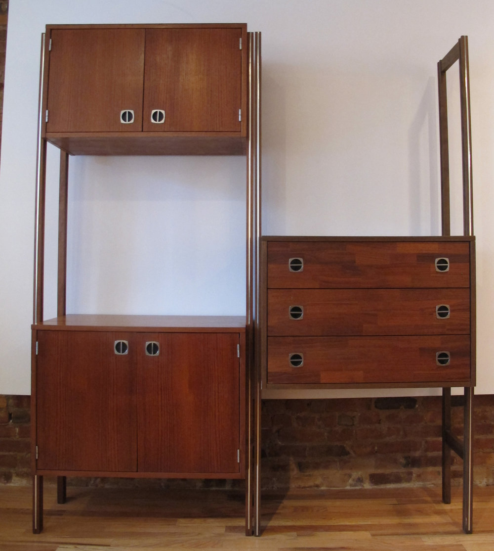 DANISH MODERN TEAK MODULAR WALL UNIT