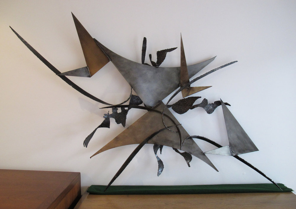 ABSTRACT BRUTALIST WALL SCULPTURE