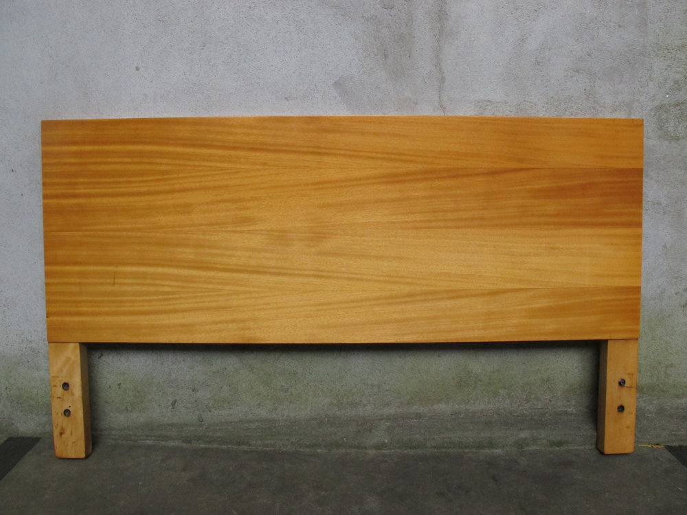 GEORGE NELSON FULL SIZE OAK HEADBOARD BY HERMAN MILLER