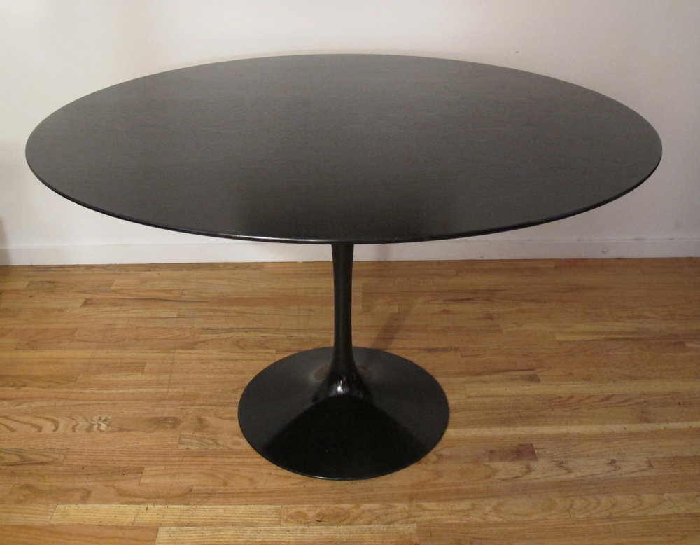 KNOLL SAARINEN EBONIZED WALNUT DINING TABLE