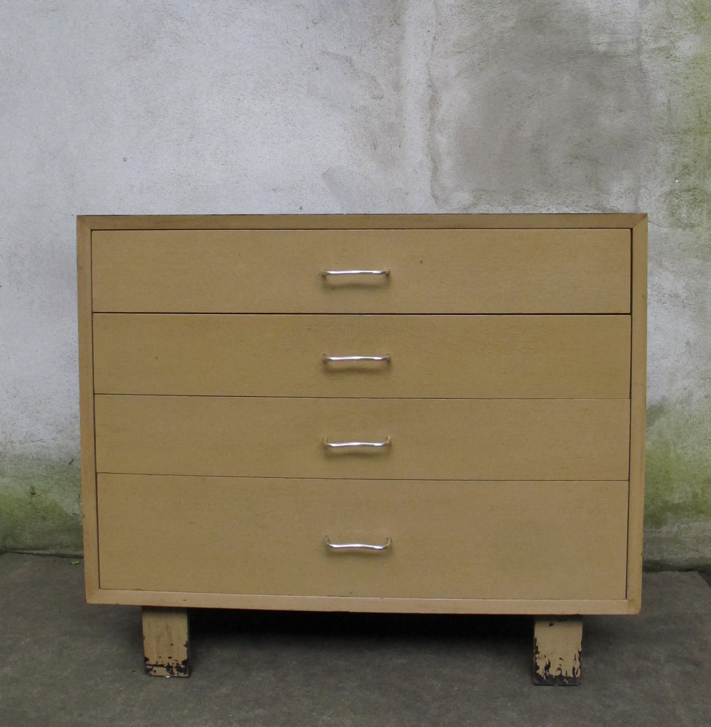 MID CENTURY GEORGE NELSON FOUR DRAWER DRESSER BY HERMAN MILLER