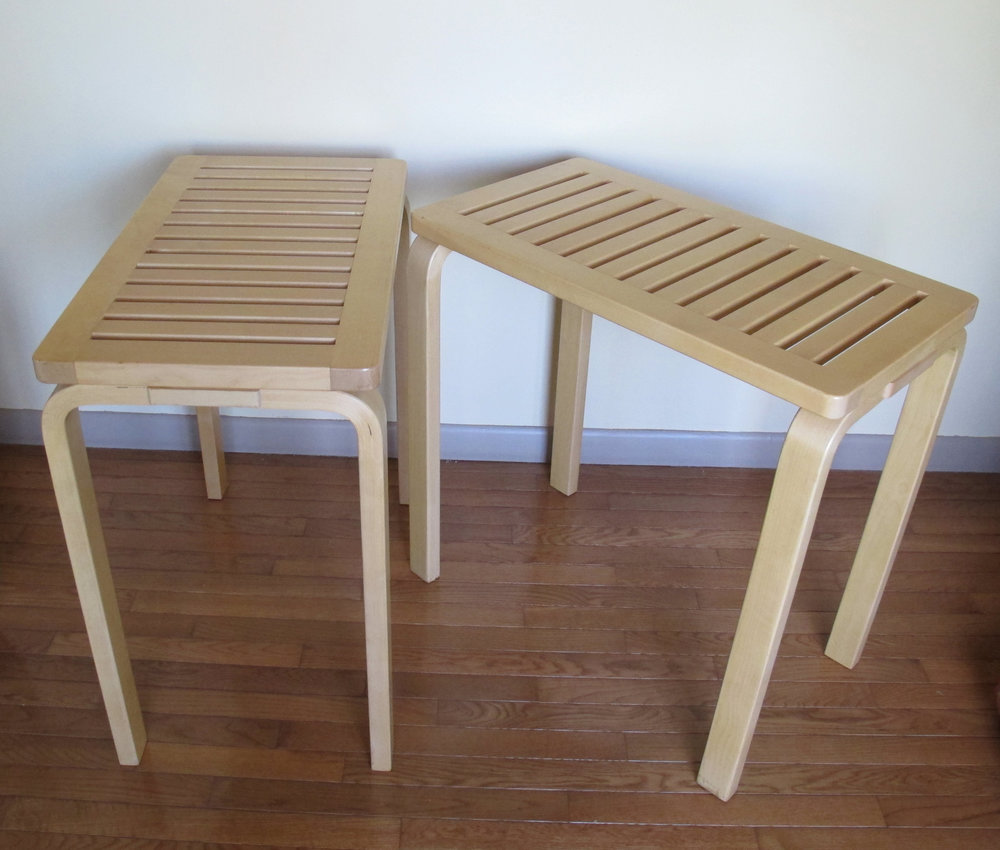 PAIR OF ALVAR AALTO CONSOLE TABLES FOR ARTEK