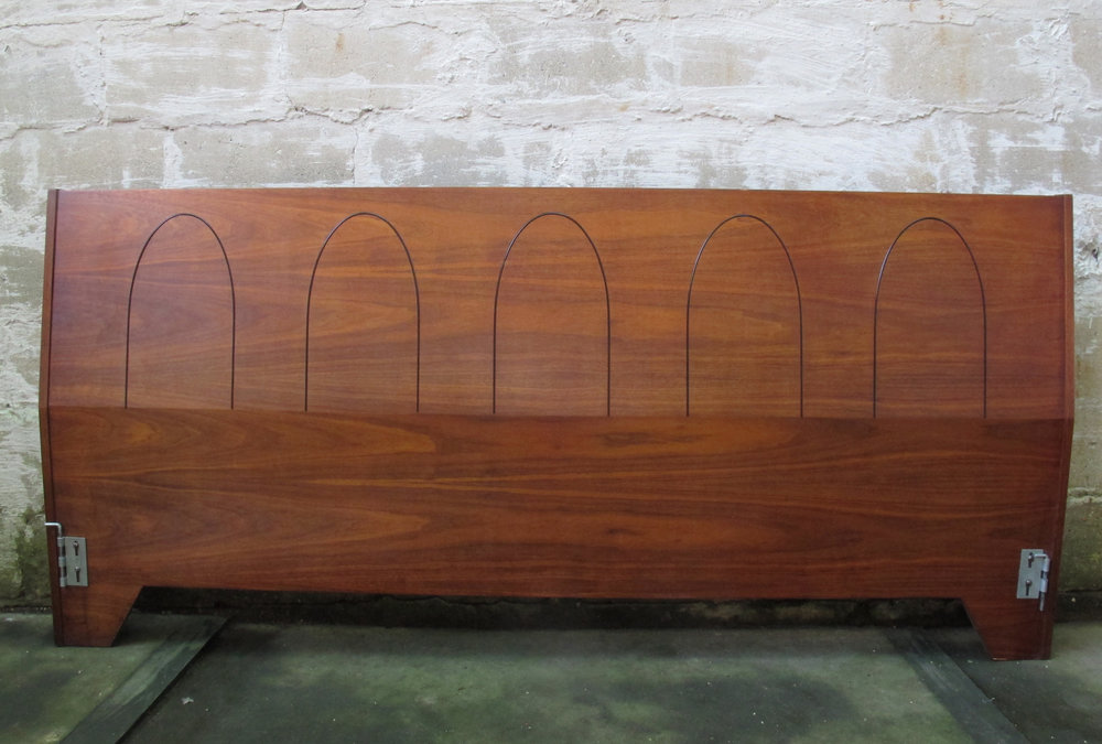 MID CENTURY KING SIZE WALNUT HEADBOARD