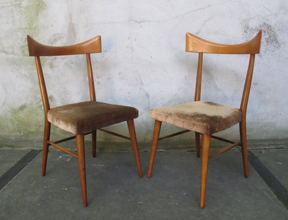 PAIR OF PAUL MCCOBB PLANNER GROUP BOW TIE DINING CHAIRS
