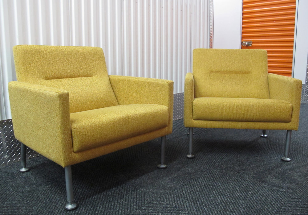 BRAYTON INTERNATIONAL MODERN CUBE LOUNGE CHAIRS