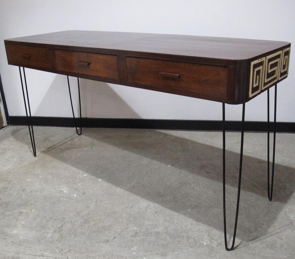 MID CENTURY MAHOGANY CONSOLE TABLE