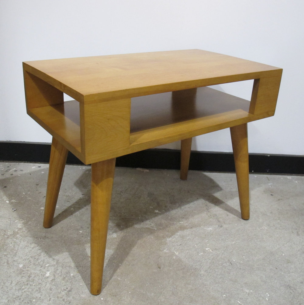 MID CENTURY CONANT BALL END TABLE BY LESLIE DIAMOND