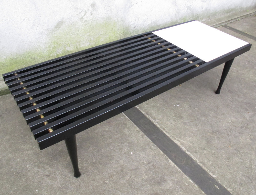 GEORGE NELSON STYLE MID CENTURY SLAT BENCH COFFEE TABLE