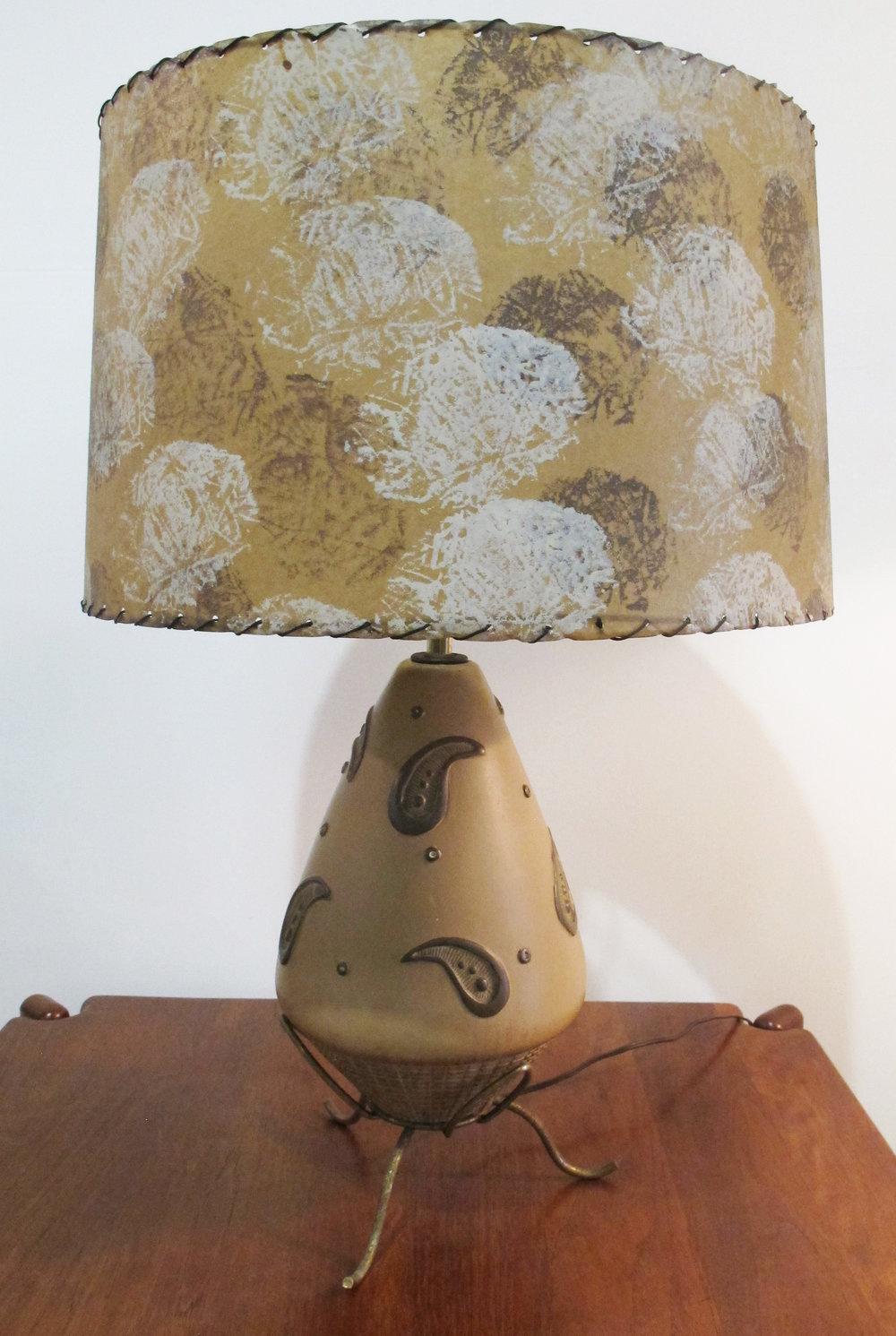 MID CENTURY ATOMIC CERAMIC LAMP